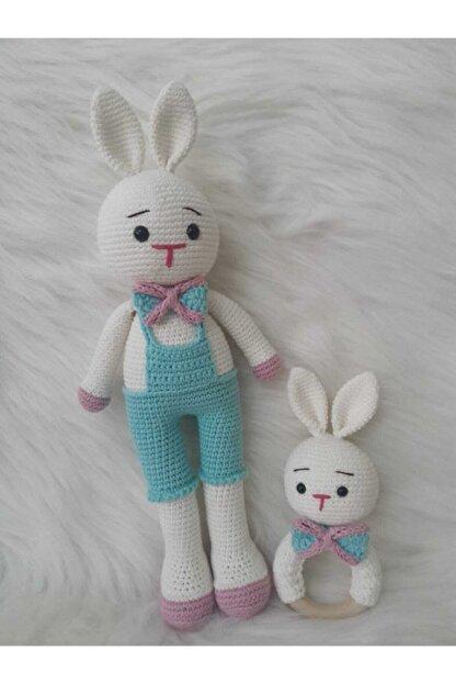 OYUNCAKPARK Şık Tavşan Uyku Arkadaşı Ve Çıngırak Yeni Doğan Seti