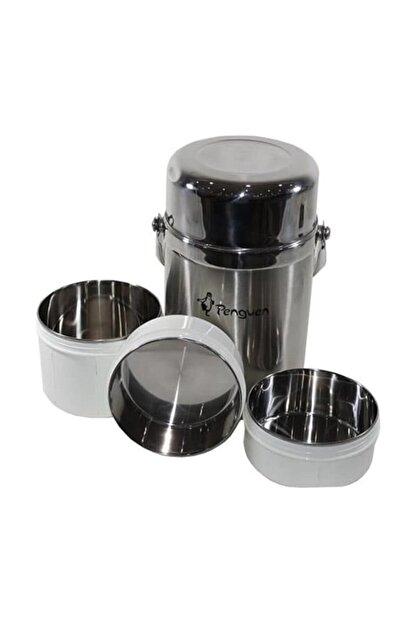 Penguen 1300 Çelik Yemek Termosu 3 Katlı 1.6 Litre Sefer Tası