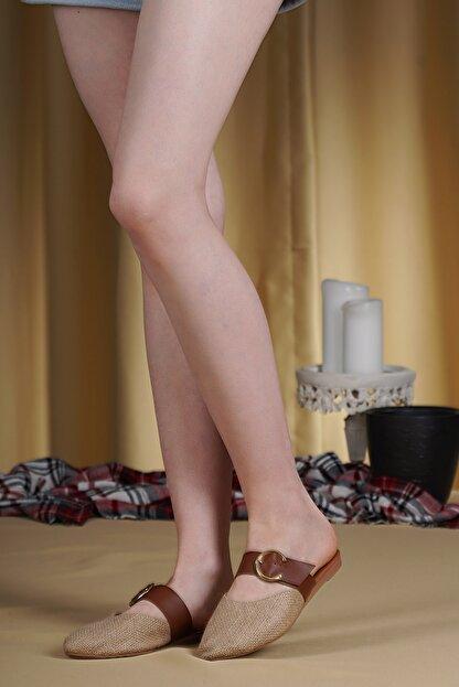 OCT Shoes Hasır Tokalı Kadın Terlik TS1043