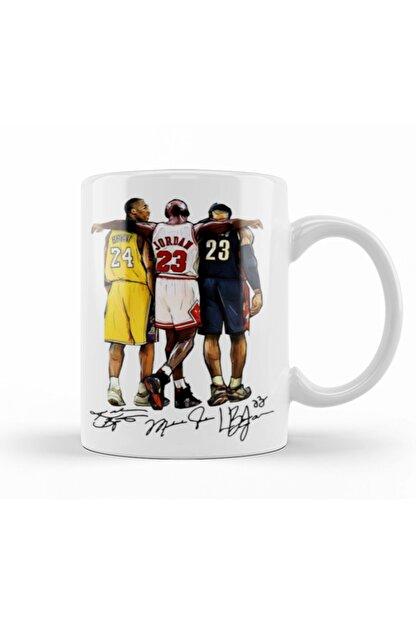 Baskı Dükkanı Lebron James Kobe Bryant Michael Jordan Kupa Bardak Porselen