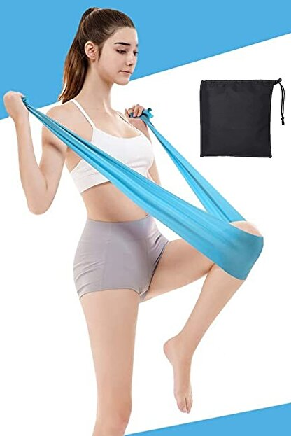 Jet Mavi Çantalı Pilates Bandı 120x15 cm