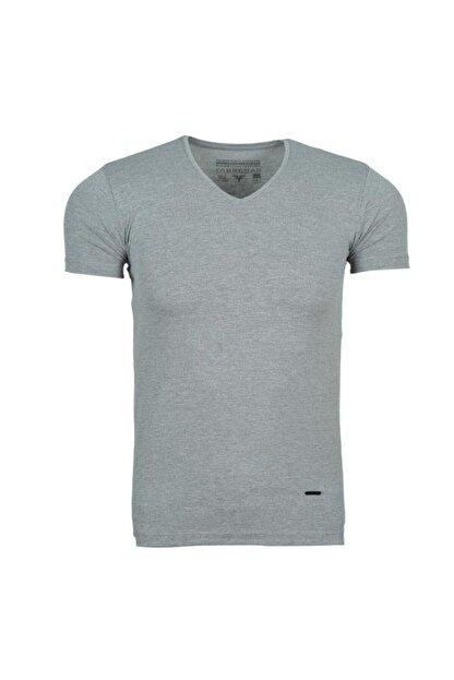 Fabregas Unisex Koyu Gri V Yaka Basic T-shirt 3001