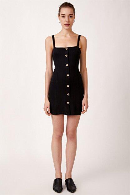 Never more Kadın Düğmeli Askılı Elbise