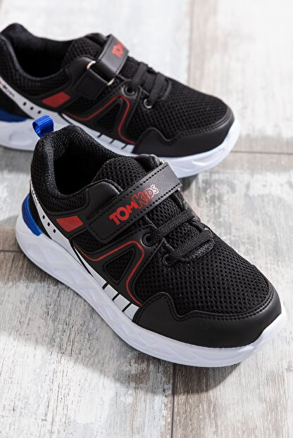 Tonny Black Erkek Çocuk Siyah Çocuk Spor Ayakkabı TB3401-3