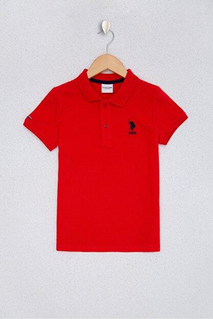 US Polo Assn Kırmızı Erkek Çocuk T-Shirt