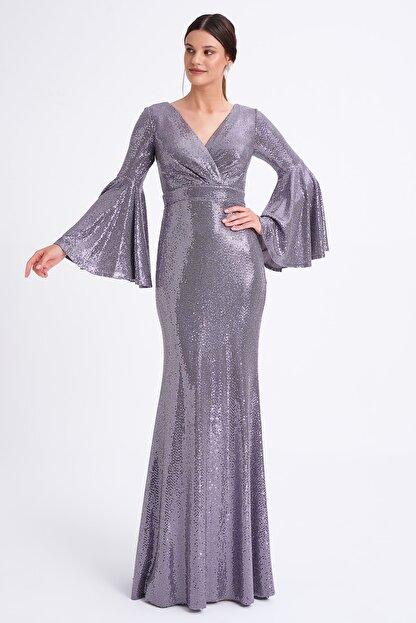 Elbisemhazır Kadın Mor Abiye