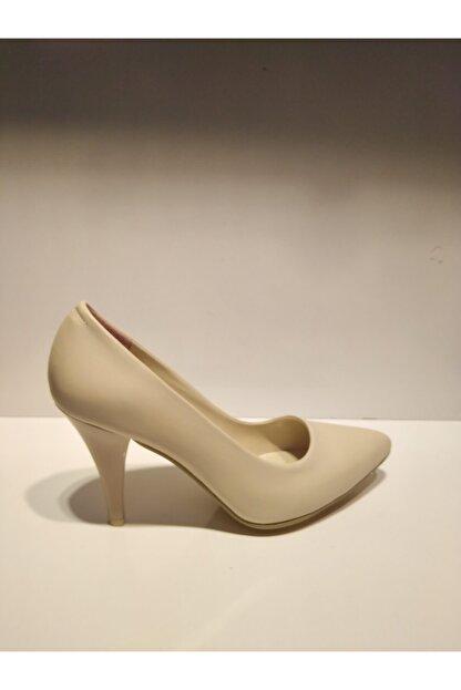 Pandora Kadın Bej Stiletto Cild Deri Ayakkabı Y20 11905