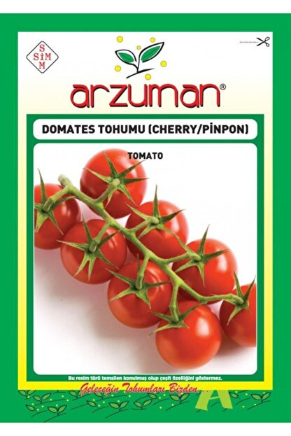aktarix Arzuman Chery Çeri Pinpon Domates Tohumu Paket 250 Tohum