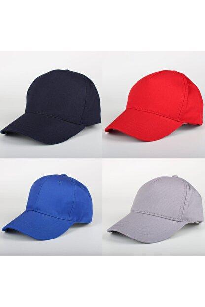 SİYASA Düz Renk Şapka 4lü Kombin Seti