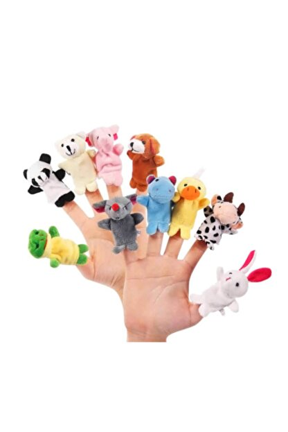 cosy home gift 10 Adet Aile El Peluş Parmak Kukla Oyuncak Hobi Çocuk Eğitim Hayvanlı Set Sevimli Kuklalar