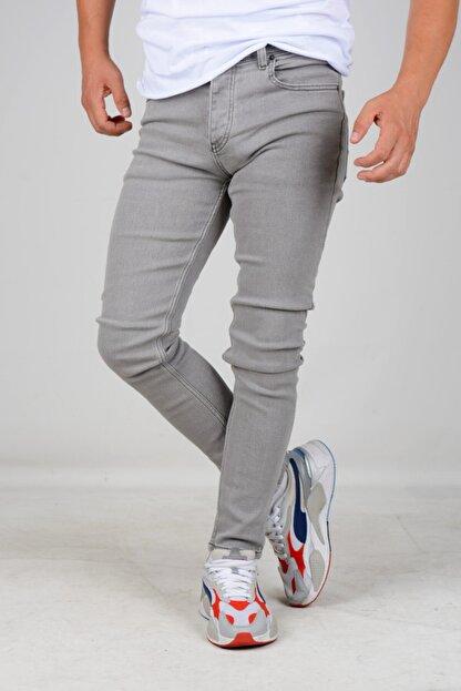 Edwox Erkek Skinny Jean Kot Pantolon Gri