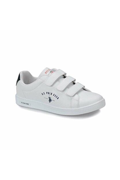 US Polo Assn Beyaz Renkli Spor Ayakkabı