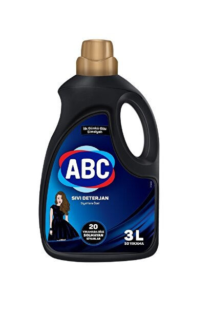 ABC Sıvı Çamaşır Deterjanı Siyahlar 3 lt 50 Yıkama