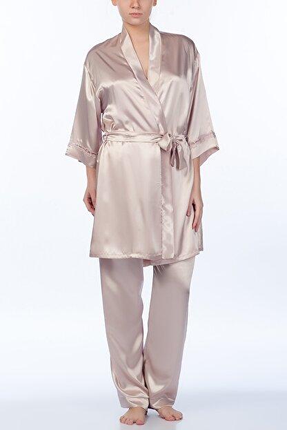 Karmen Saten 3'lü Pijama Takımı