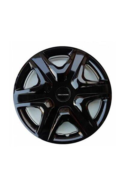 SAHLAN [kırılmaz] Peugeot 307 Uyumlu 14 Inc Piano Black Siyah Jant Kapağı Seti 4 Adet