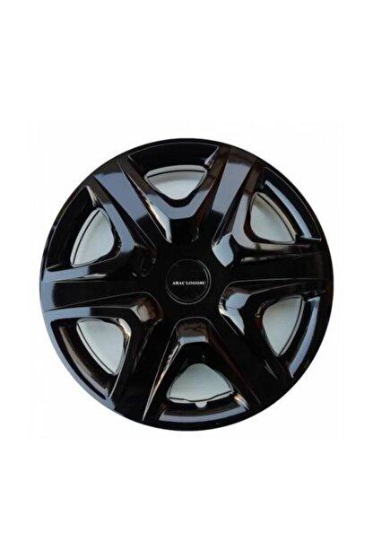 SAHLAN [kırılmaz] Hyundai Elantra Uyumlu 14 Inc Piano Black Siyah Jant Kapağı Seti 4 Adet