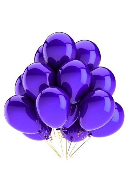 KullanAtParty Mor Metalik Sedefli Balon 15 Adet