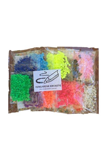 RENGARENK KIRTASİYE Rengarenk Kırtasiye Hama Tipi Tasarım İçin Poşet Boncuk (12 Renk )
