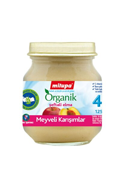 Aptamil Organik Şeftalili Elmalı Kavanoz Mama 125 gr