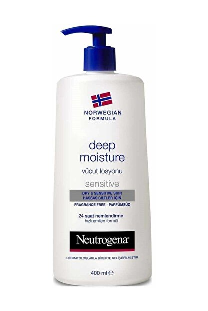 Neutrogena Deep Moisture Parfümsüz Hassas Cilt Vücut Losyonu 400 ml