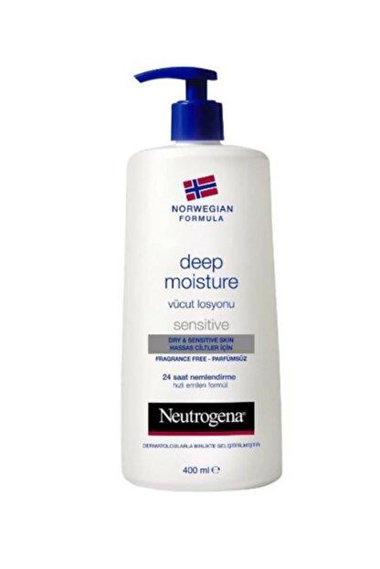 Neutrogena Hassas Ciltler İçin Parfümsüz Vücut Losyonu  - Deep Moisture 400 ml 3574661018201