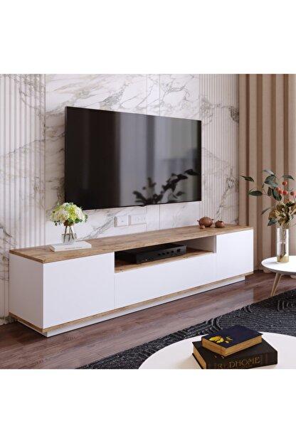 Yurudesign Future Tv Ünitesi Fr7-aw Çam-beyaz