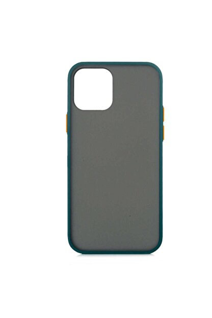 MOBAX Apple Iphone 12 Pro Kılıf Arka Buzlu Mat Kapak Koyu Yeşil