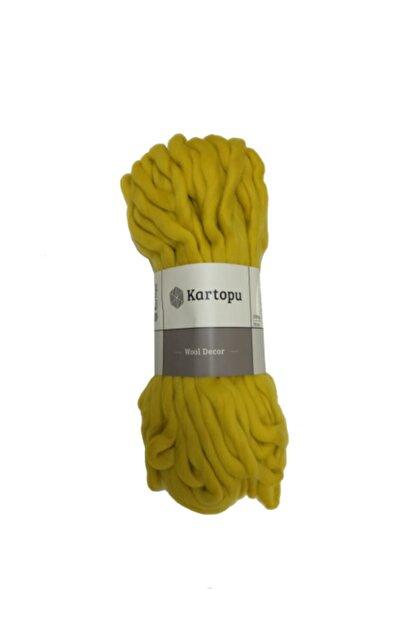 Kartopu Wool Decor Sarı El Örgü Ipi - K1322