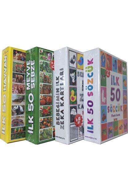 DIY Toys 4'lü Eğitim Seti ( Ilk 50 Sözcük + Ilk 50 Hayvan + Ilk 50 Sebze Meyve + Bebeğimin Ilk Zeka Kartları