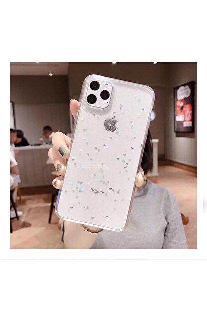Kılıfsiparis Apple Iphone 11 Şeffaf Simli Silikon Telefon Kılıfı