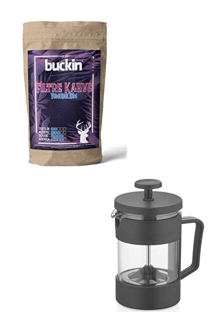 Buckin French Press Filtre Kahve 250gr Promosyon Paketi