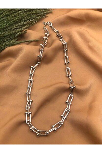 Eylülün Takısı Kadın Gümüş Renk Tiffany Kolye