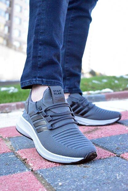 MORENİCA Erkek Füme Bağcıksız Ortopedik Yürüyüş Ayakkabısı