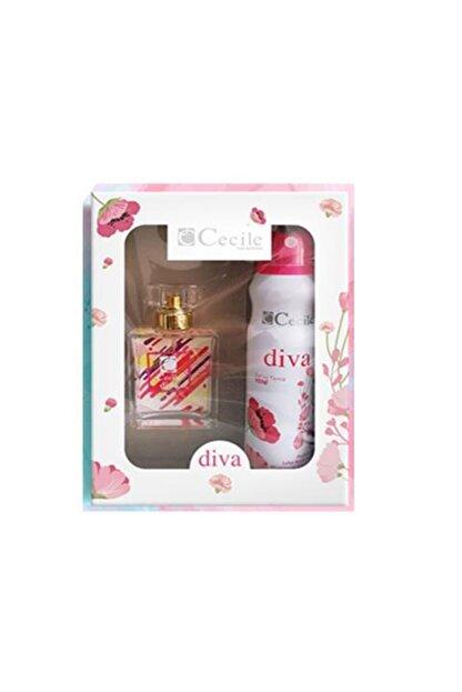 Cecile Cecıle Parfüm Set Kadın Diva Edt 55ml+ Deo 150ml