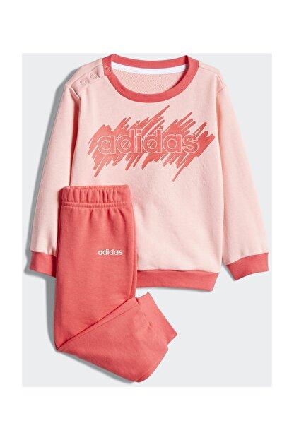 adidas Kız Bebek Alt-Üst Takım I LIN JOGG FT       GLOPNK/CORPNK