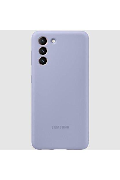 Samsung Galaxy S21 Silikon Kılıf - Mor Ef-pg991tvegww