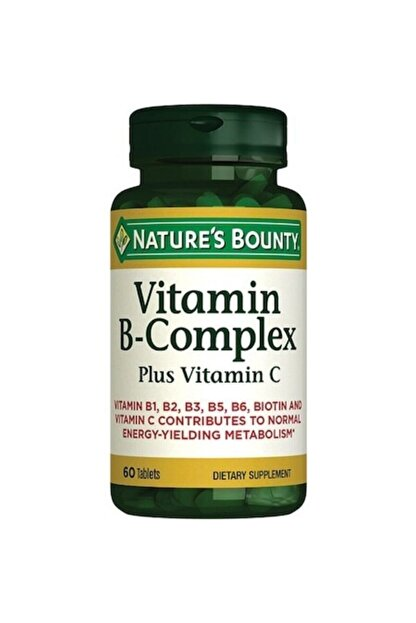 Natures Bounty Vitamin B-complex Plus Vitamin-c 60 Tablet
