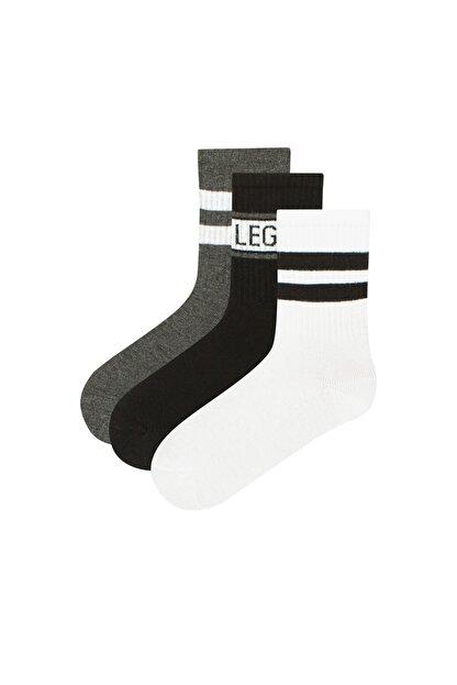 Penti Erkek Çocuk Beyaz  Little Legend Soket Çorap 3'lü