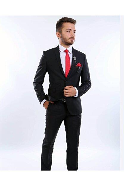 intersivin Slim Fit Siyah Takım Elbise