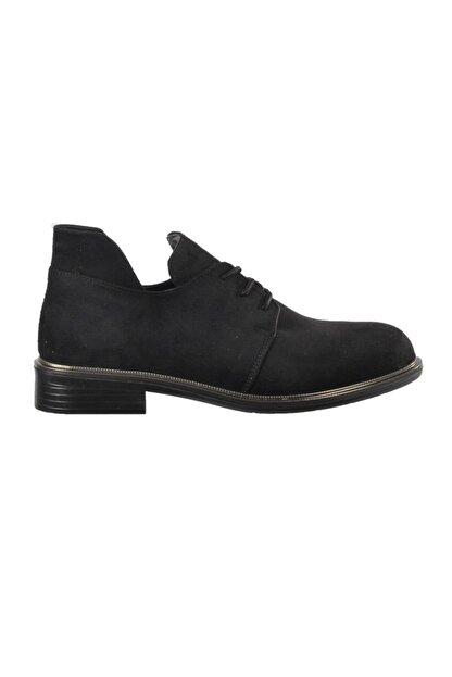 Ermod 105 Siyah Süet Kadın Günlük Ayakkabı