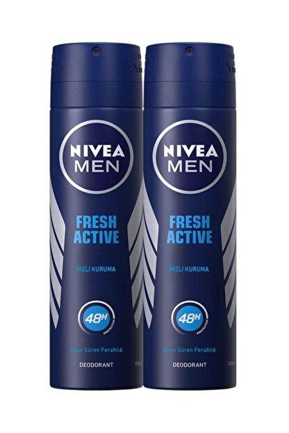 Nivea Fresh Active Erkek Sprey Deodorant 150 ml 2 Adet