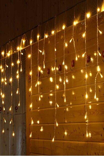 Magic Hobby Dekoratif Saçak Led Işık Ip Perde Sarkıt Yılbaşı Süs 4mt Sarı Eklemeli