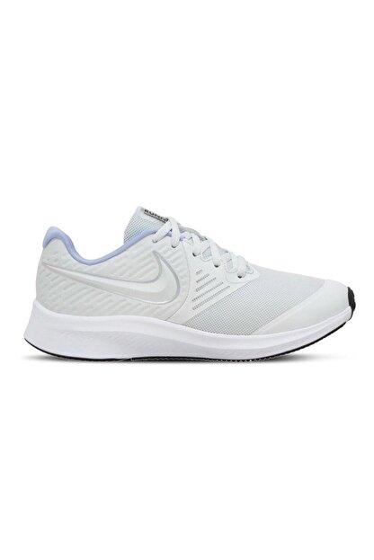 Nike Unisex Beyaz Star Runner 2 Ayakkabı Aq3542-007