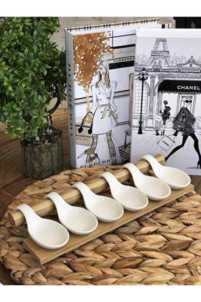 İstoçHome Bambu Stantlı Porselen Sunum 32x11