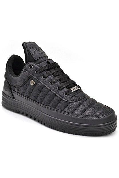 L.A Polo Erkek  Dikişli Siyah  Sneaker 07