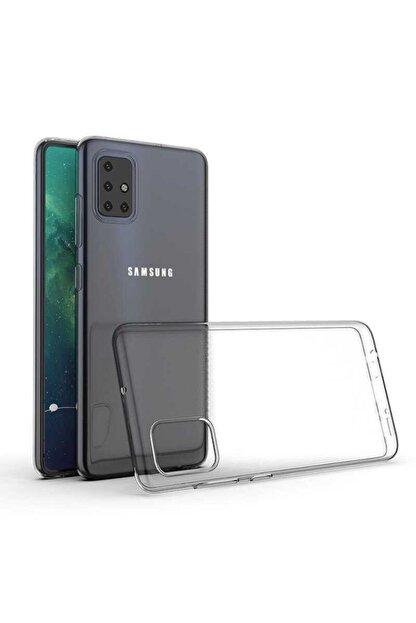 Samsung A71 Kılıf Şeffaf Dayanıklı Ince Esnek Süper Silikon Model