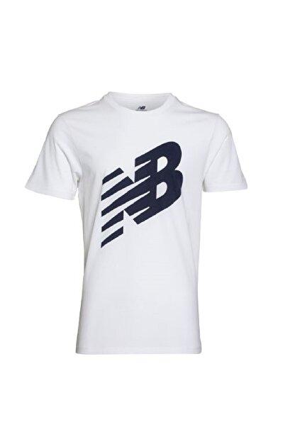 New Balance Erkek T-shirt - -V-MTT620-WT