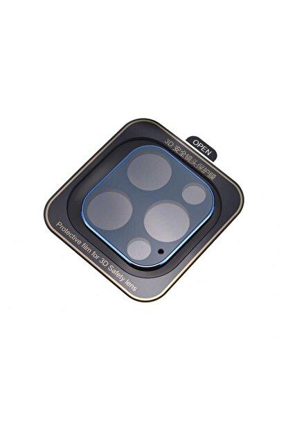 Nezih Case Apple Iphone 12 Pro Max Güçlendirilmiş 3d Full Kamera Koruyucu Mavi