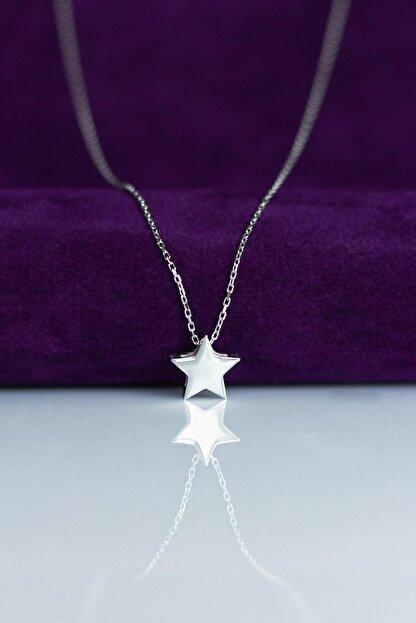 By Barun Silver Gümüş Rengi Yıldız  Gümüş Kolye