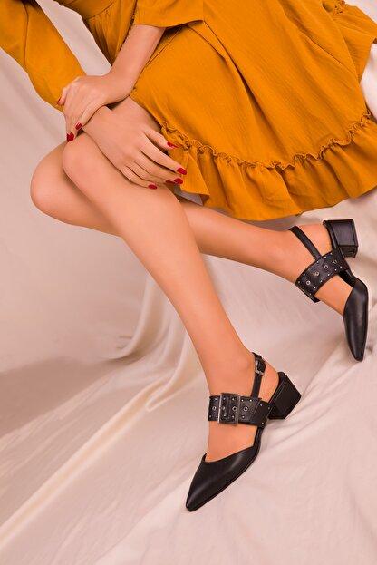 Soho Exclusive Siyah Kadın Klasik Topuklu Ayakkabı 14707